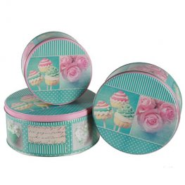 Green And Rose Cake Tins Set Of 3