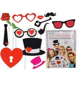 Love Party Photo Props 12pc