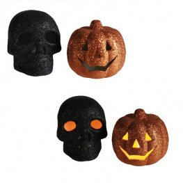 Flickering Skull And Pumpkins 12pk