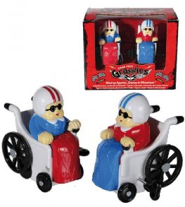 Granny In Wheelchair Wind Up Figurine