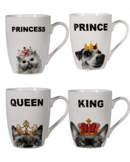 Royal Cats And Dog Porcelain Mug