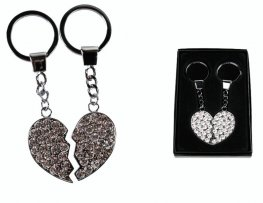 Broken Heart Crystal Keychain