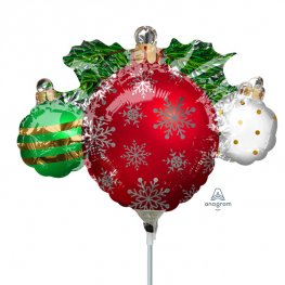 "9"" Ornament Cluster Mini Shape Foil Balloons"