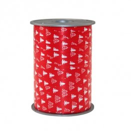 Red Baum Poly Ribbon 200m