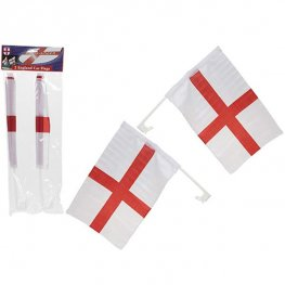 Twin Pack England Car Flags