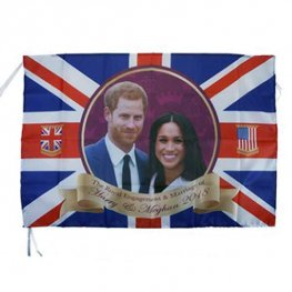 Harry & Meghan Royal Couple Rayon Flag