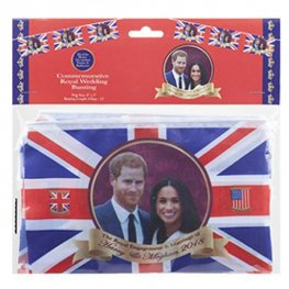 "12"" Harry & Meghan Flag Bunting"