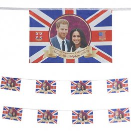 "20"" Harry & Meghan Flag Bunting"