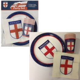 England Party Cups, Plates And Napkins Set18pc