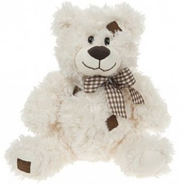 "10"" Cream Patchwork Bear"