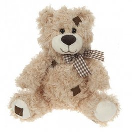 "16"" Brown Patchwork Bear"