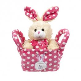 28cm Bunny In A Basket Soft Toy