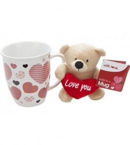 Plush Love Bear And Mug Set