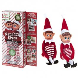 "12"" Mischievous Elves 2 Pack"