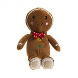 "9"" Gingerbread Man Festive Plush Toy"