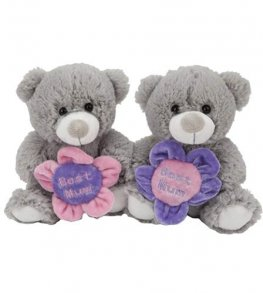 "7"" Best Mum Flower Soft Toy Bear"