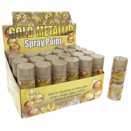 Gold Metallic Christmas Spray x1