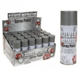 Silver Metallic Christmas Spray x1