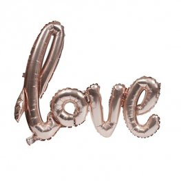 "30"" Love Script Air Filled Balloons"