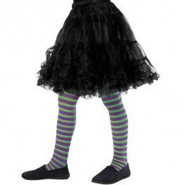 Purple And Green Wicked Witch Tights