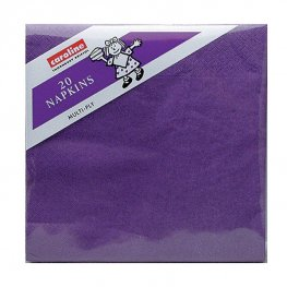 Purple Napkins 6 Packs Of 20
