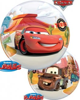 "22"" Lightning McQueen & Mater Single Bubble Balloons"