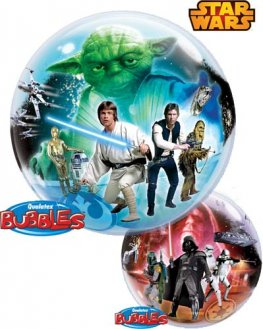 "22"" Star Wars Single Bubble Balloons"