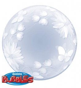 "20"" Butterflies & Flowers Deco Bubbles"