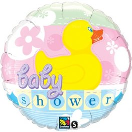 "18"" Baby Shower Rubber Duckie Foil Balloons"