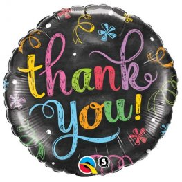 "18"" Thank You Chalkboard Foil Balloons"