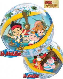 "22"" Jake & The Neverland Pirate Single Bubble Balloons"