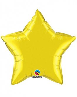 "20"" Citrine Yellow Star Foil Balloon"