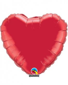 "36"" Ruby Red Heart Foil Balloon"