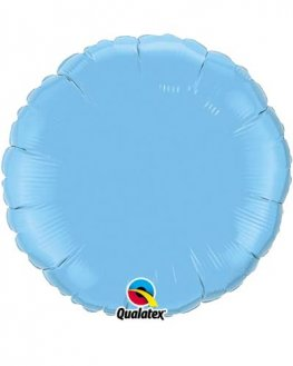 "18"" Pale Blue Round Foil Balloon"