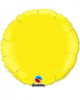 "18"" Yellow Rounds Foil Balloon"