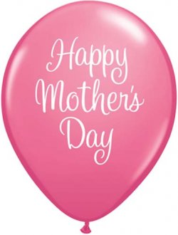 "11"" Mothers Day Classy Script Latex Balloons 25pk"