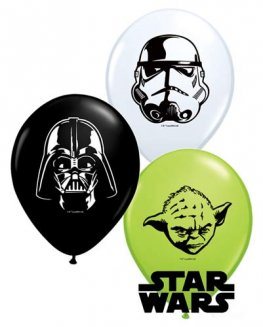 "5"" Star Wars Faces Latex Balloons 100pk"