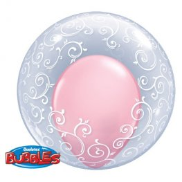 "24"" Fancy Filigree Deco Bubble Balloons"