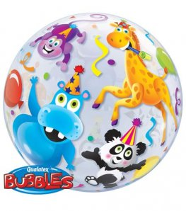 "22"" Party Animals Single Bubble Balloons"