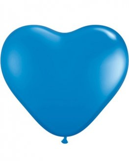 "6"" Dark Blue Heart Latex Balloons 100pk"