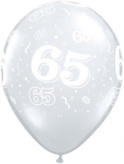 "11"" 65 Around Diamond Clear Latex Balloons 50pk"