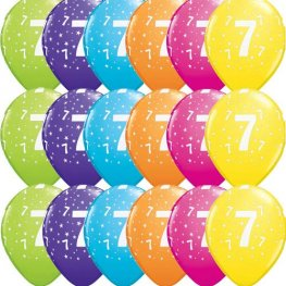"11"" 7 Stars Tropical Assorted Latex Balloons 50pk"