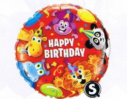 "18"" Birthday Party Animals Foil Balloons"