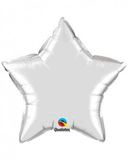 "4"" Silver Star Foil Balloon"
