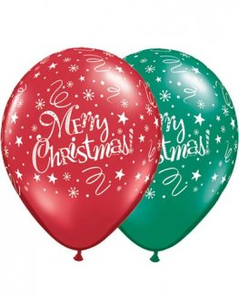 "11"" Christmas Festive Latex Balloons 25pk"