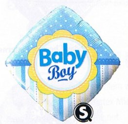 "18"" Baby Boy Dots And Stripes Foil Balloons"
