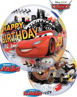 "22"" Lightning McQueen Birthday Single Bubble Balloons"