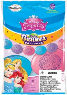 "12"" Disney Princess Quick Link Party Banner 10pk"