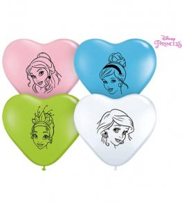 "6"" Disney Princess Faces Assorted Latex Balloons 100pk"