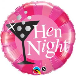 "18"" Hen Night Pink Foil Balloons"